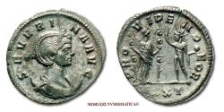 Ancient Coins - Ulpia Severina BILLON ANTONINIANUS 270-275 AD PROVIDEN DEOR / UIXXT Fides (55/70) Roman Imperial coin for sale