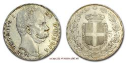 World Coins - Kingdom of Italy Humbert I 1879 SILVER 55/70 Italian coin for sale