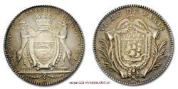 World Coins - Louis XV of France Silver Token 1773 Jean-Baptiste-François Delamichodière prévôt des marchands de Paris SCARCE French token for sale