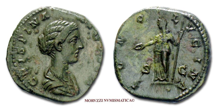 Ancient Coins - Crispina AE AS 177-192 AD IVNO LVCINA / S C 45/70 RARE (R) Roman Imperial coin for sale