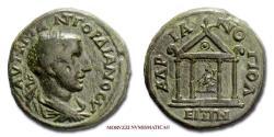 Ancient Coins - Gordian III BRONZE 238-244 AD tetrastyle temple Hadrianopolis 40/70 RARE (R) Roman coin for sale