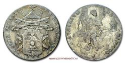 World Coins - Papal States VACANT SEES 1823 DOPPIO GIULIO Camerlengo Cardinale Bartolomeo Pacca SILVER 30/70 VERY RARE (RR) Papal coin for sale