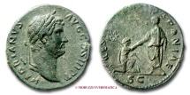 Ancient Coins - HADRIAN AE AS 134-138 A.D. RESTITVTOR HISPANIAE RARE (R) roman coin
