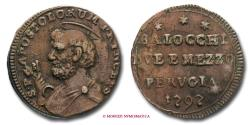 World Coins - Papal States PIUS VI 2,5 BAIOCCHI ROMANI 1797 Perugia RARE (R) papal coin