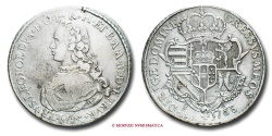 World Coins - Grand Duchy of Tuscany Pietro Leopoldo I (Leopold II, Holy Roman Emperor) FRANCESCONE 1768 Florence VERY RARE (RR) italian coin