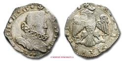 World Coins - Kingdom of Sicily Philip IV of Spain 4 TARI' 1652 Messina SILVER italian coin