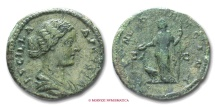 Ancient Coins - LUCILLA AE AS 161-169 A.D. IVNO REGINA roman coin