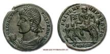CONSTANTIUS II BRONZE 348-351 A.D. FEL TEMP REPARATIO Constantinople roman coin