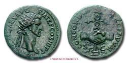 Ancient Coins - Nerva AE DUPONDIUS 97 AD CONCORDIA EXERCITVVM / S C 45/70 Roman Imperial coin for sale
