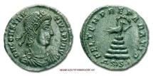 CONSTANTIUS II SMALL BRONZE 348-350 AD FEL TEMP REPARATIO ASISY Siscia roman coin