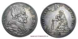 World Coins - INNOCENT XII 1/2 PIASTRA 1696 SILVER 45/70 RARE (R) Papal coin for sale