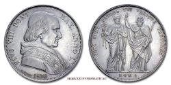World Coins - Pius VIII SCUDO 1830 ANNO I SILVER 55/70 Papal coin for sale