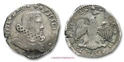 World Coins - Kingdom of Sicily Philip IV of Spain 4 TARI' 1664 Messina SILVER italian coin