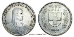 World Coins - Swiss Confederation 5 FRANCS 1923 Bern SILVER 55/70 World coin for sale