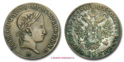 World Coins - Ferdinand I of Austria 20 KREUZER 1840 Milan Contemporary counterfeit EXTREMELY RARE (RRRRR) Italian coin for sale