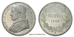 World Coins - Pius IX SCUDO 1853 A VIII SILVER 63/70 Papal coin for sale