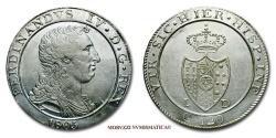 World Coins - Kingdom of Naples Ferdinand IV of Bourbon 120 GRANA 1805 NAPLES italian coin