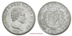 World Coins - Kingdom of Sardinia Charles Felix 5 LIRE 1826 Turin SILVER italian coin