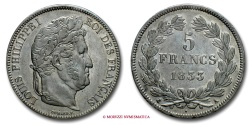 World Coins - FRANCE LOUIS PHILIPPE I 5 FRANCS 1833 A PARIS french coin