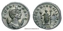 SEVERINA ANTONINIANUS 270-275 AD CONCORDIAE MILITVM XXIR roman coin