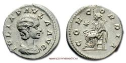 Ancient Coins - Julia Paula SILVER DENARIUS 219-220 AD CONCORDIA RARE (R) Roman coin for sale