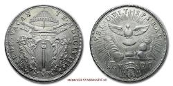 World Coins - VACANT PAPAL SEE 1758 SCUDO 55/70 SILVER RARE (R) Papal coin for sale