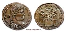 MAGNENTIUS MAIORINA 350-353 A.D. VICTORIAE DD NN AVG ET CAES VOT V MVL X Arelate (Arles) RARE (R) roman coin