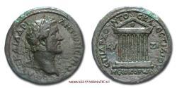 Ancient Coins - Antoninus Pius Bronze 138-161 AD octastyle temple Cyzicus Roman Imperial coin for sale