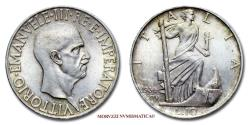 World Coins - Kingdom of Italy Victor Emmanuel III 10 LIRE 1936 Impero SILVER 62/70 Italian coin for sale