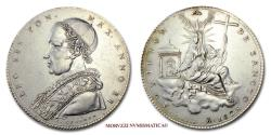World Coins - Leo XII SCUDO 1825 SILVER RARE (R) Papal coin for sale