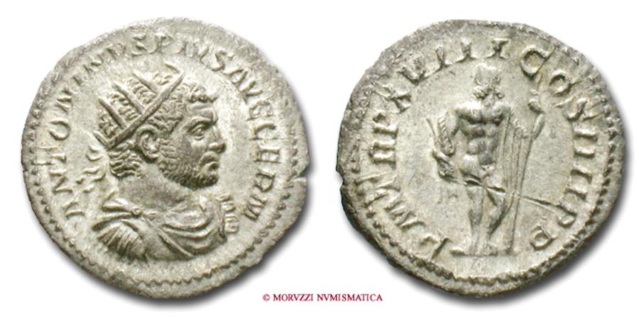 Ancient Coins - CARACALLA ANTONINIANUS 215 AD JUPITER RARE (R) roman coin
