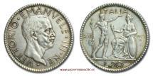 World Coins - Kingdom of Italy Victor Emmanuel III 20 LIRE 1927 AN VI Littore SILVER (NC) italian coin