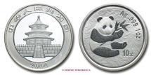 World Coins - PEOPLE'S REPUBLIC OF CHINA 10 YUAN 2000 TEMPLE OF HEAVEN PANDA RARE (R) chinese coin