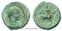 Ancient Coins - ELAGABALUS AE AS 222 A.D. ADVENTVS AVGVSTI RARE (R) roman coin