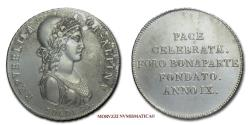 World Coins - Cisalpine Republic 30 SOLDI 1801 Milan SILVER 50/70 SCARCE (NC) Italian coin for sale