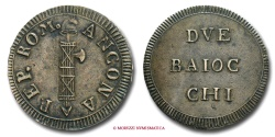 World Coins - FIRST ROMAN REPUBLIC (1798-1799) 2 BAIOCCHI 1799 ANCONA VERY RARE (RR) papal coin