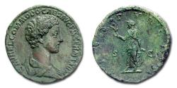 Ancient Coins - Commodus Caesar SESTERTIUS 175-176 AD SPES PVBLICA S C RARE (R) Roman coin for sale