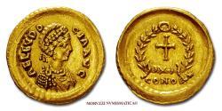 Ancient Coins - Aelia Eudocia GOLD Tremissis 425-426 AD CONOB Constantinople 55/70 RARE (R) Roman coin for sale