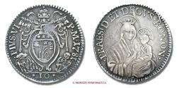 World Coins - PAPAL STATES PIUS VI 1/2 LIRA / MEZZA LIRA 1781 BOLOGNA VERY RARE (RR) papal coin