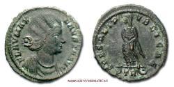 Ancient Coins - Fausta SMALL BRONZE 326 AD SPES REIPVBLICAE / PTR Trier 50/70 SCARCE (NC) Roman Imperial coin for sale