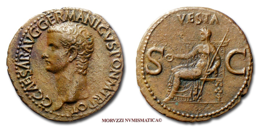Ancient Coins - CALIGULA AE AS 37-38 A.D.