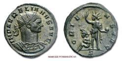 Ancient Coins - Aurelian BILLON ANTONINIANUS 270-275 AD ORIENS AVG / S Mediolanum Sol Roman coin for sale