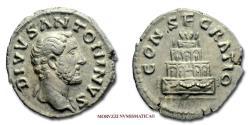 Ancient Coins - Antoninus Pius SILVER DENARIUS 161-180 AD CONSECRATIO 45/70 Roman coin for sale
