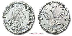 World Coins - Kingdom of Sicily Ferdinand III (Ferdinand I of the Two Sicilies) 10 GRANA 1796 Palermo SILVER italian coin