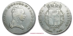 World Coins - Grand Duchy of Tuscany Ferdinand III Grand Duke of Tuscany FRANCESCONE 1824 Florence SILVER VERY RARE (RR) italian coin