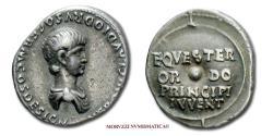 Ancient Coins - Nero Caesar SILVER DENARIUS 50-54 AD EQVESTER ORDO PRINCIPI IVVENT 45/70 VERY RARE (RR) Roman Imperial coin for sale