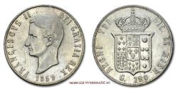 World Coins - Kingdom of the Two Sicilies Francis II 120 GRANA 1859 Naples SILVER 55/70 Italian coin for sale