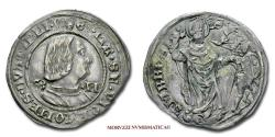 World Coins - Duchy of Milan Galeazzo Maria Sforza GROSSO DA 4 SOLDI no date Saint Ambrose Archbishop of Milan SILVER 45/70 RARE (R) Italian coin for sale