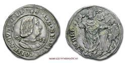 World Coins - Duchy of Milan Galeazzo Maria Sforza GROSSO DA 4 SOLDI no date Saint Ambrose Archbishop of Milan SILVER 45/70 RARE (R) Italian coin for sale