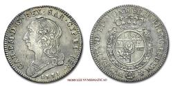 World Coins - Kingdom of Sardinia Charles Emmanuel III 1/4 DI SCUDO 1771 Turin SILVER 45/70 Italian coin for sale